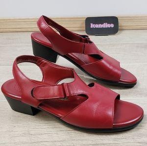 SAS Tripad Comfort Red Leather Heel Strap Sandal